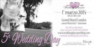 Wedding Day domenica 1 marzo 2015 c/o Grand Hotel Londra